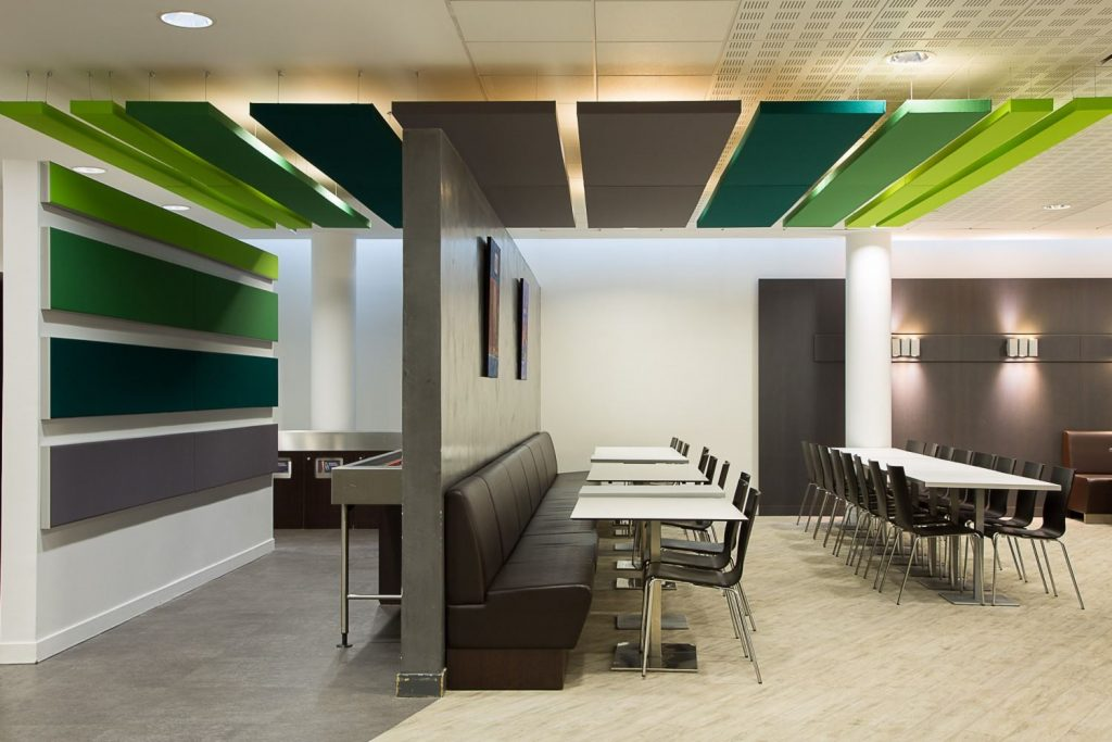 Suspended and wall mounted Acoustic Panels